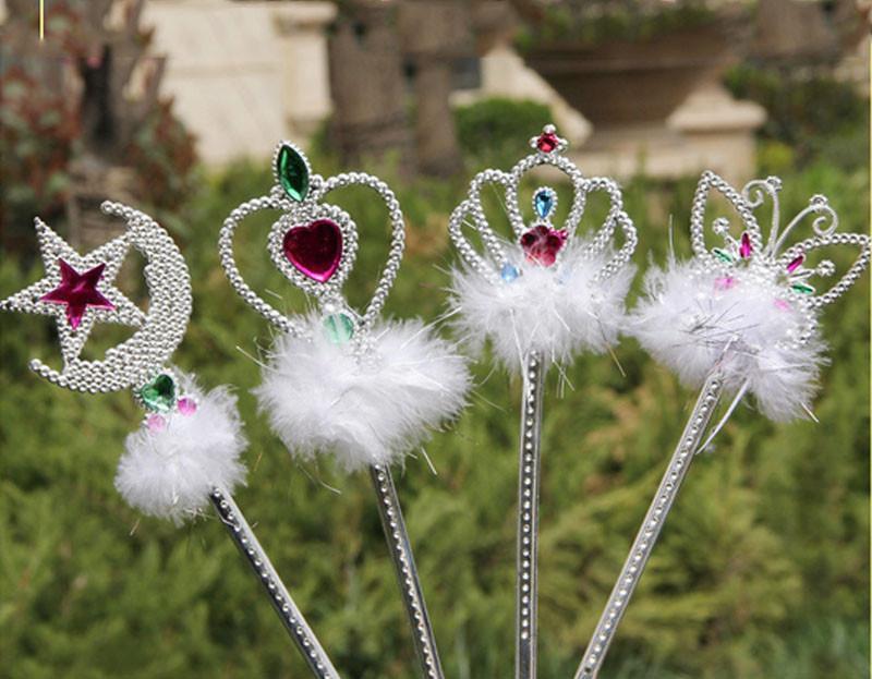 2018 Peri Prenses Sihirli Değnek Sopa Kelebek Taç Kalp Başlangıç Sticks Çocuk Kız Prenses Parti Favor Hediye Noel Yeni Yıl