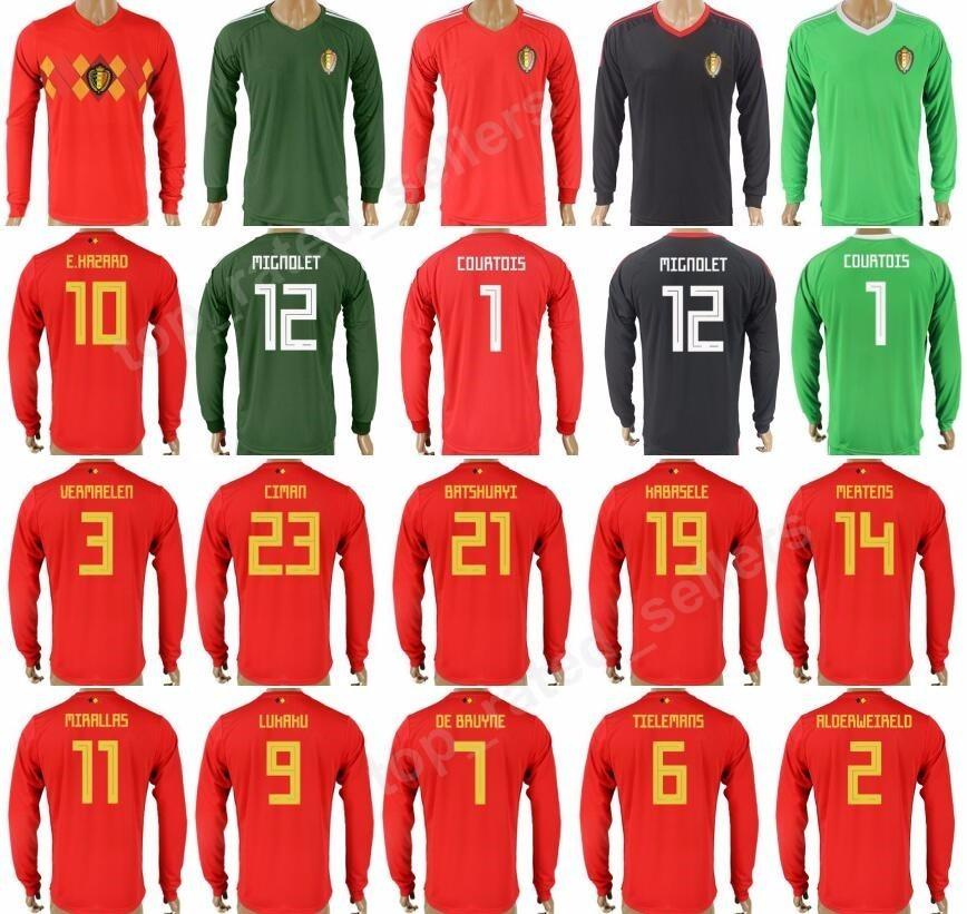 905e4d612f2 ... clearance 2018 belgium soccer jersey long sleeve 2018 world cup home  red black green 2 alderweireld