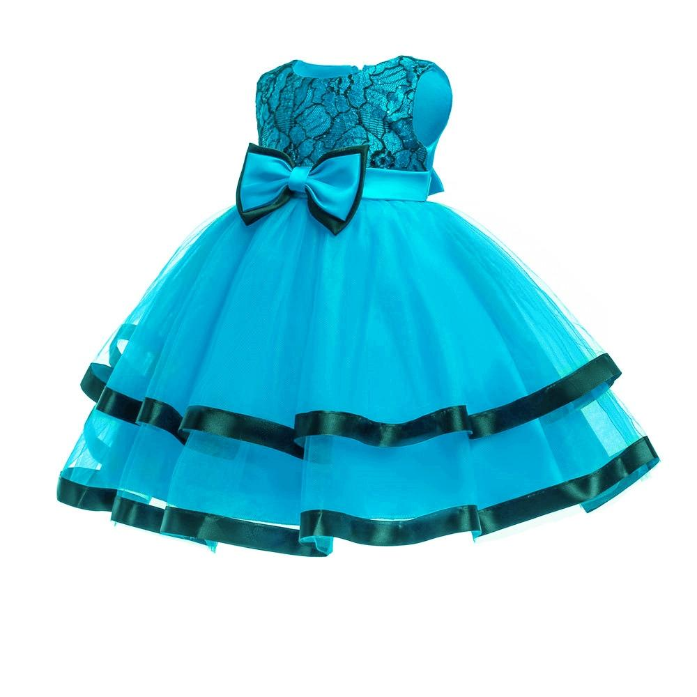 c9d4cc91dc5b 2019 Cotton Newborns Infant Dresses 2018 New Arrival Turquoise Baby Dress  For 1 Year Birthday Children Christening Gown From Cover3085
