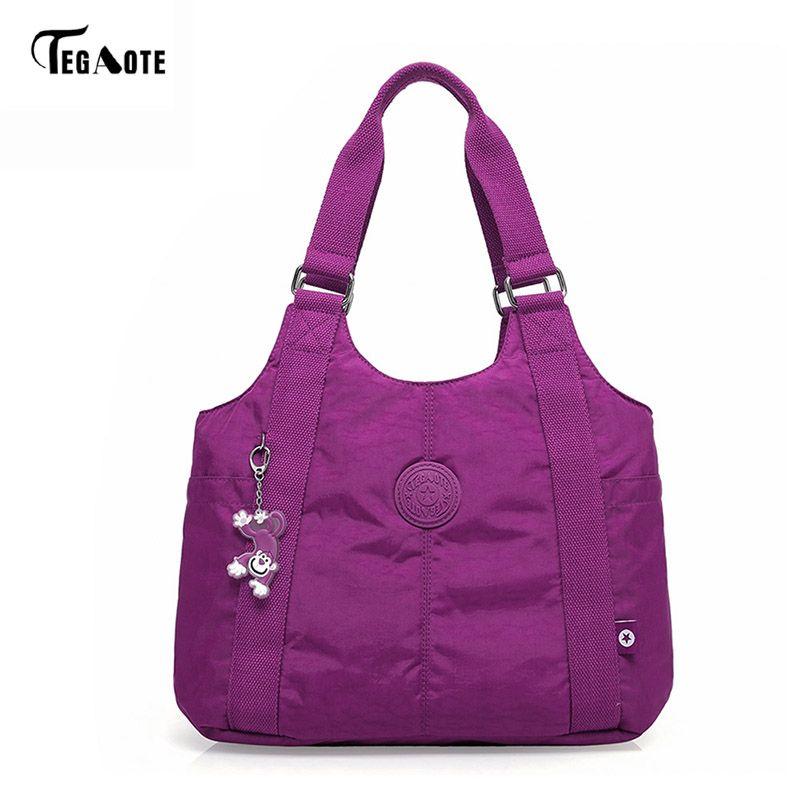 b5108355cc43 TEGAOTE Women Top-handle Shoulder Bag Luxury Handbags Designer Nylon Beach  Casual Tote Female Purse Sac Femme Bolsa Feminia