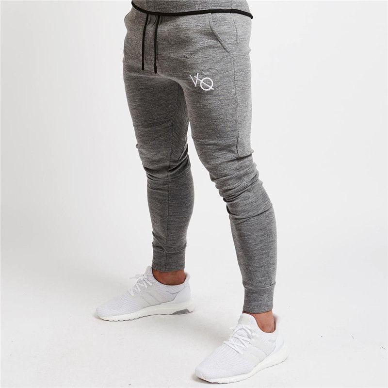 f72e670400 Compre 2018 Nueva Ropa VQ Gyms En Hombres Pantalones Hombres Moda Pantalones  De Chándal Pantalones Pitillo Casuales Pantalones De Chándal De Calidad ...