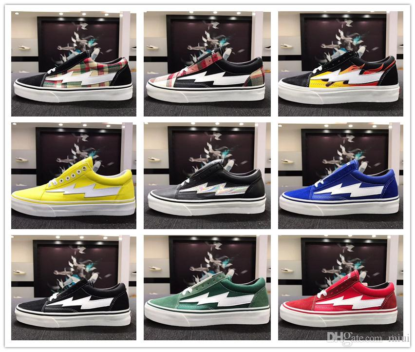 Collection All Revenge x Storm Sneakers Pop up Store GD118 Old SKool Off Fashion Grid Mens Skateboard Vulcanized Canvas Shoes 35-44