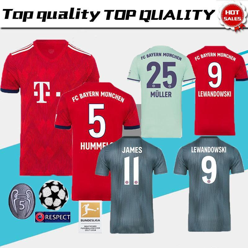 hot sale online 2b96a 47810 MuLLER JAMES MEN S NEW jersey 2018-2019 Bayern Munich Jersey Ribéry Wagner  Lewandowski NEUER Hummels Alaba boateng Rafinha 6 Dlcantar R