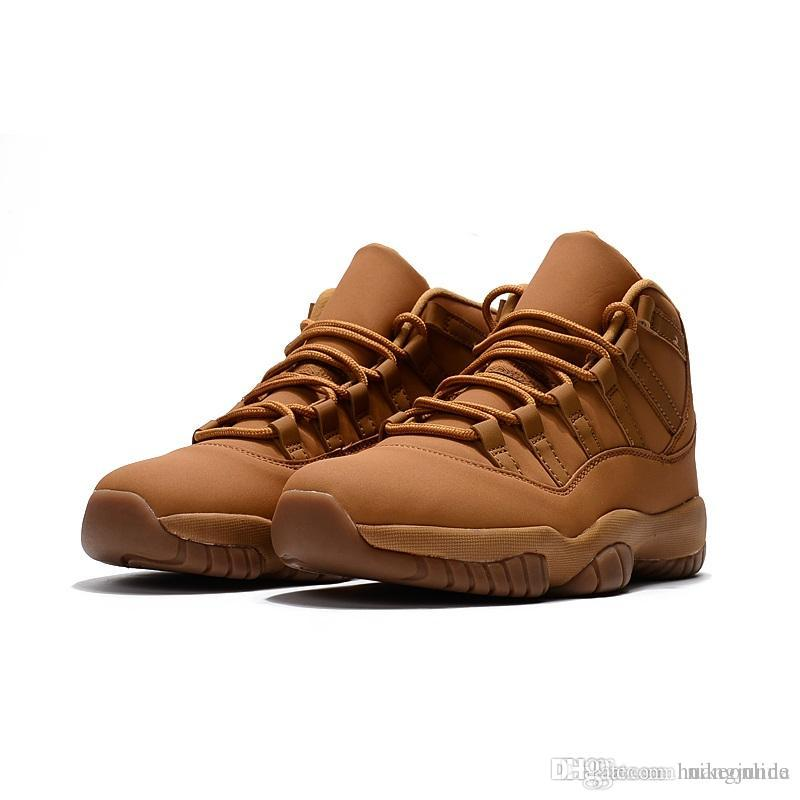 47f0e72044c6 Cheap Cheap Mens Jumpman 11 XI Basketball Shoes 11s Platinum Tint Wheat  Maroon Olympic Gold White Red Black Bred OVO J11 Sneakers Boots with Box