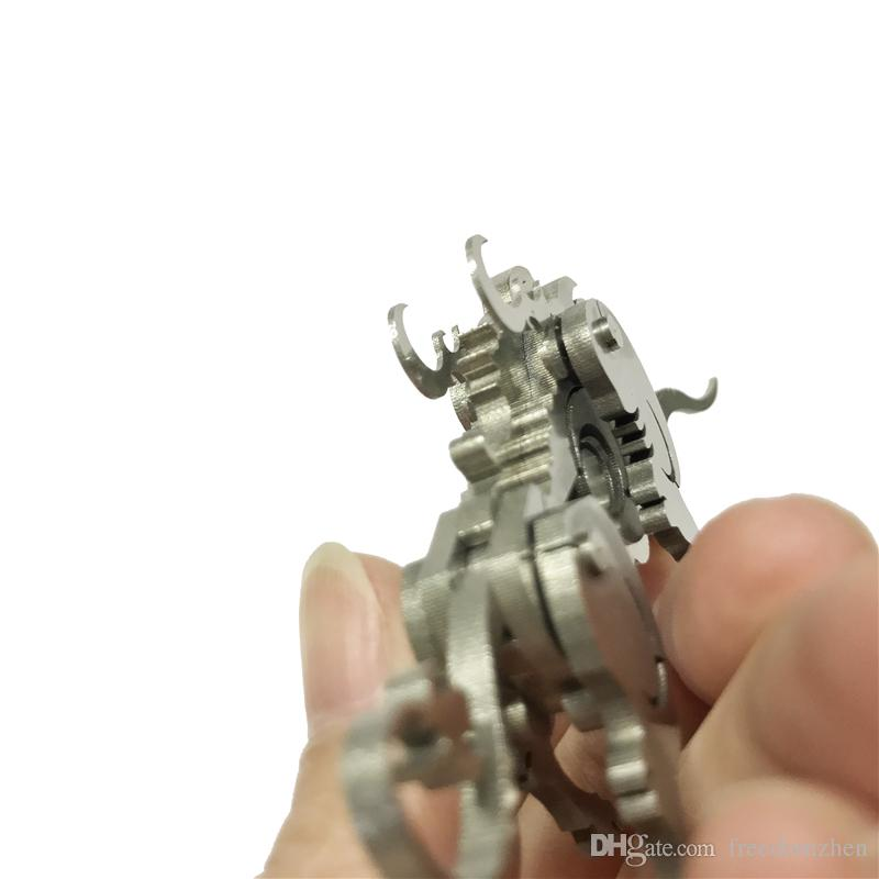 Ox Patient 3D Steel Metal Joint Mobility Miniature Model Kits Puzzle Toys Children Boy Splicing Hobby Building