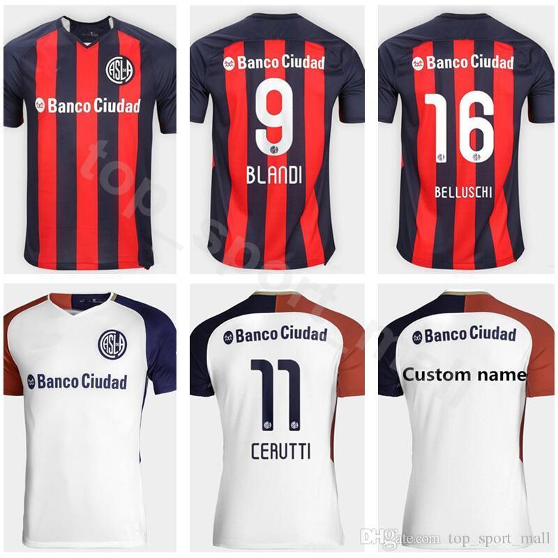 Compre Club Atletico San Lorenzo De Almagro Jersey FC Homens De Futebol 9  BLANDI 16 BELLUSCHI 10 ROMAGNOLI 6 CARUZZO 17 DIAZ Kits De Camisa De Futebol  De ... 6fcaee7adbc39