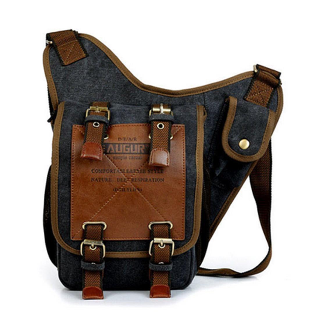 3826b2031 ARESLAND Casual Shoulder Bags For Men Vintage Canvas Messenger Bag Men'S  Shoulder Bag Male Crossbody Black 2018 New Arrival Leather Tote Leather Tote  Bags ...
