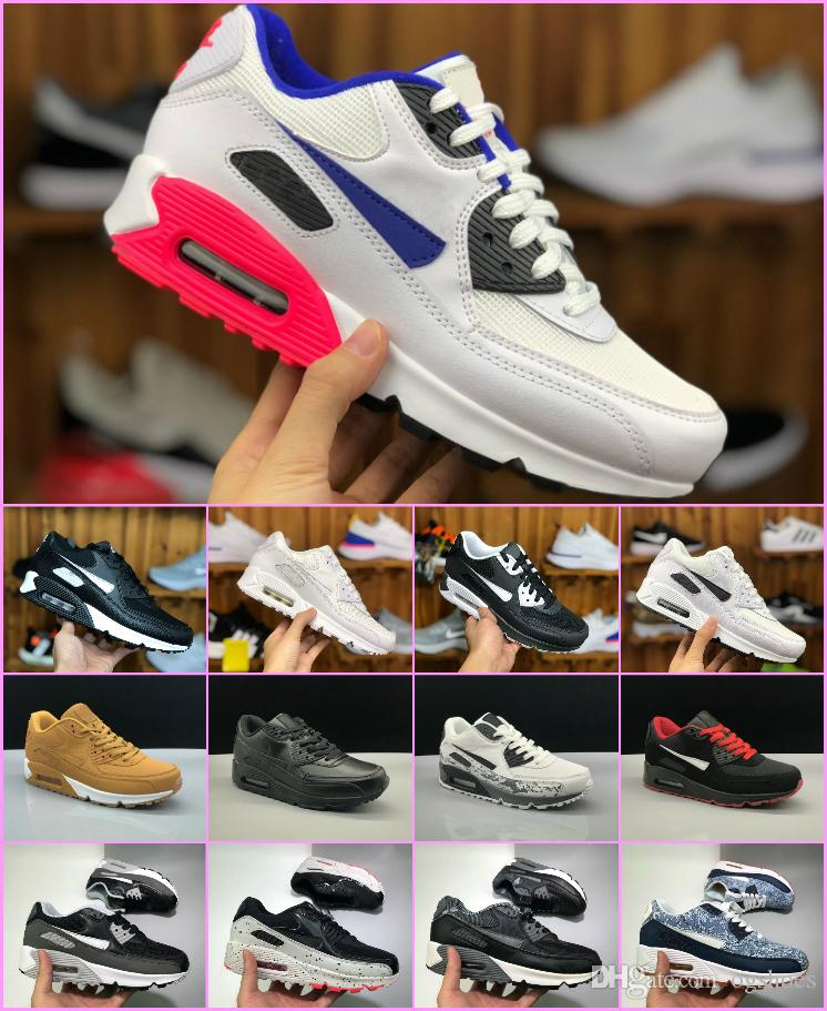 2018 New OFF 90 Running Shoes Mens Womens Air Virgil Designer Maxes ... 506c65c14