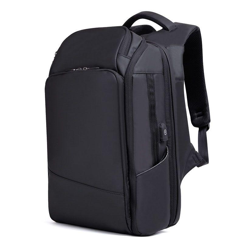 54dbb0f166 2018 New Men Backpack Multifunction USB Charging 17inch Laptop ...