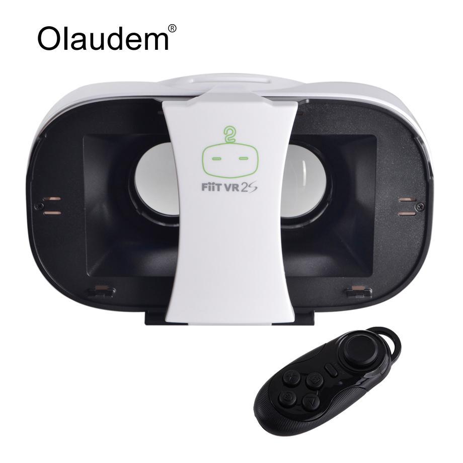 34a389060b1 VR Glasses Google Cardboard Virtual Reality 3D Glasses FIIT VR 2S Headset  For Smartphone + Bluetooth 3.0 Remote Controller VR919 3dglasses 3d Glasses  Case ...