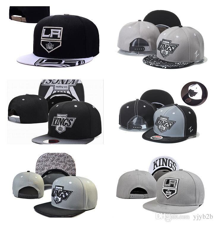 25c4892fb97 2019 New Men S Los Angeles Kings Snapback Hats Team Logo Embroidery Sports  Adjustable LA Hockey Caps Vintage Leather Visor Strap Back H UK 2019 From  Lzx6626 ...