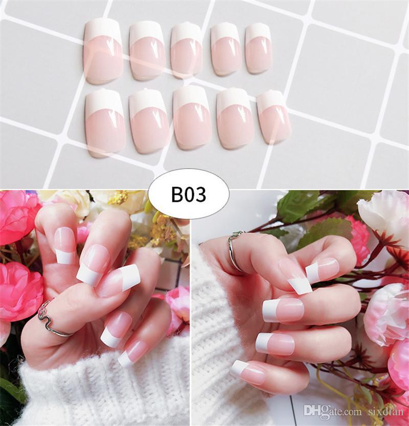 Hot 64 Styles 3D Fake Nails Sexy French Cute Cartoon Full Cover Acrylic Nails  Salon Nail Supplies Nail Art Tool Shellac Nails Gel Nails From Sixdian, ...