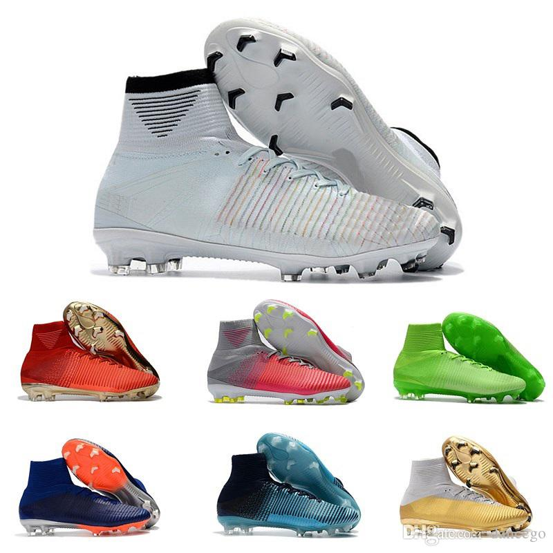 2036de3c1 2019 Hot Sale Mens Mercurial Superfly CR7 V Outdoor Soccer Boots Ronaldo FG  High Ankle Magista ACC Soccer Shoes Neymar JR Phantom Soccer Cleats From  Dancego ...