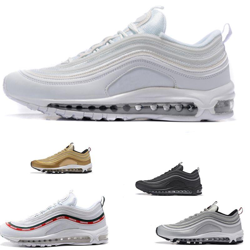Nike Air Max 97 airmax En kaliteli Toptan Drop Shipping 97 OG UNDFTD Yenilmez Beyaz Mens Womens Kosu Ayakkabi maxes Boyutu EU36 45 US5.5 11 A04