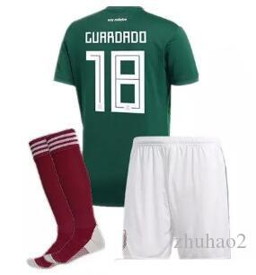 02b6bf0abd2 2018 World Cup Mexico National Team ADULT SET +Socks Soccer Jerseys Uniform  Home Green Set G.Dos Santos CHICHARITO Football UK 2019 From Zhuhao2