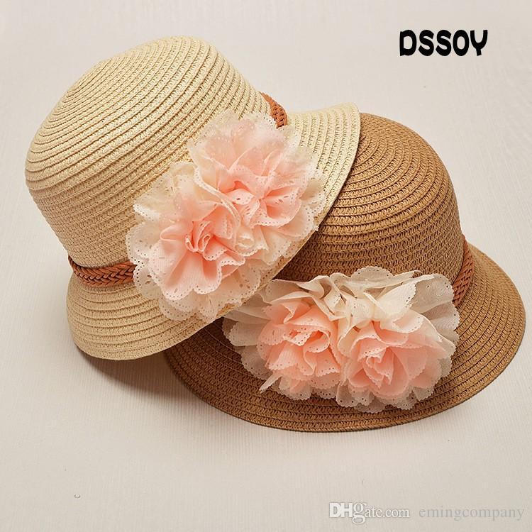 dd51f96c0aa Designer Children Wide Brimmed Straw Beach Flower Bohemia Bucket Hats Kids  Foldable Summer Sun Visors UV Protect Girl Honey Fishing Cap Sale Kids  Beach Hats ...
