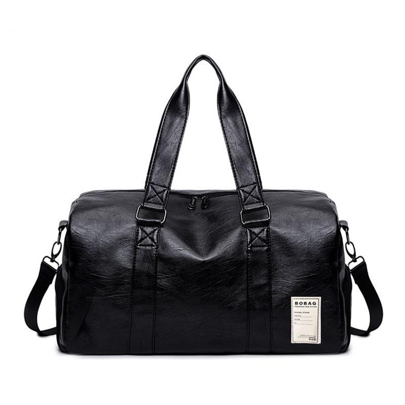 cc1516098df1 2019 Men S PU Leather Gym Bag Male Big Sports Bags Handbags For Fitness Men  Women Training Shoulder Shoes Travel Sac De Sport XA400WA From Hcaihong