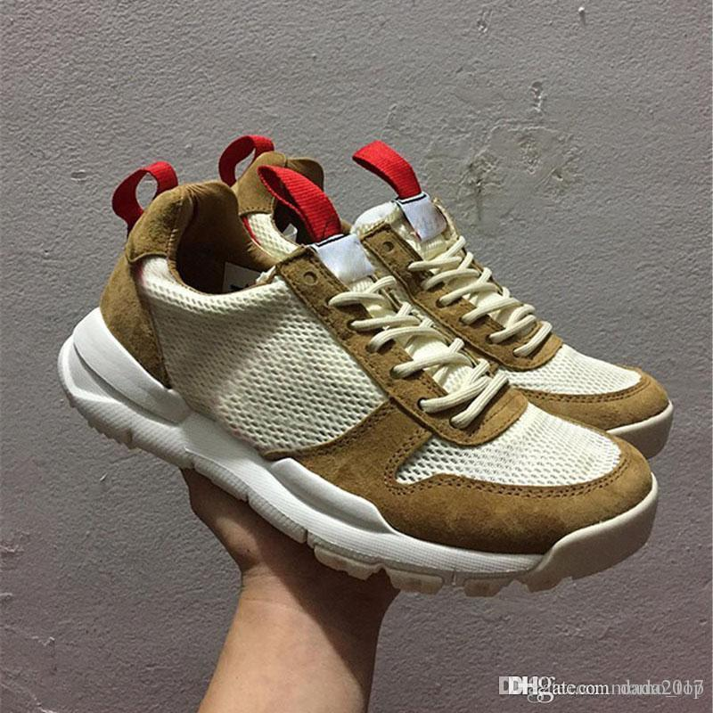 f31126bf9c57 2018 Tom Sachs X Craft Mars Yard 2.0 TS NASA Running Shoes For Men AA2261  100 Natural Sports Red Shoe Zapatillas Vintage Shoe Men Shoes On Sale Shoes  Sports ...