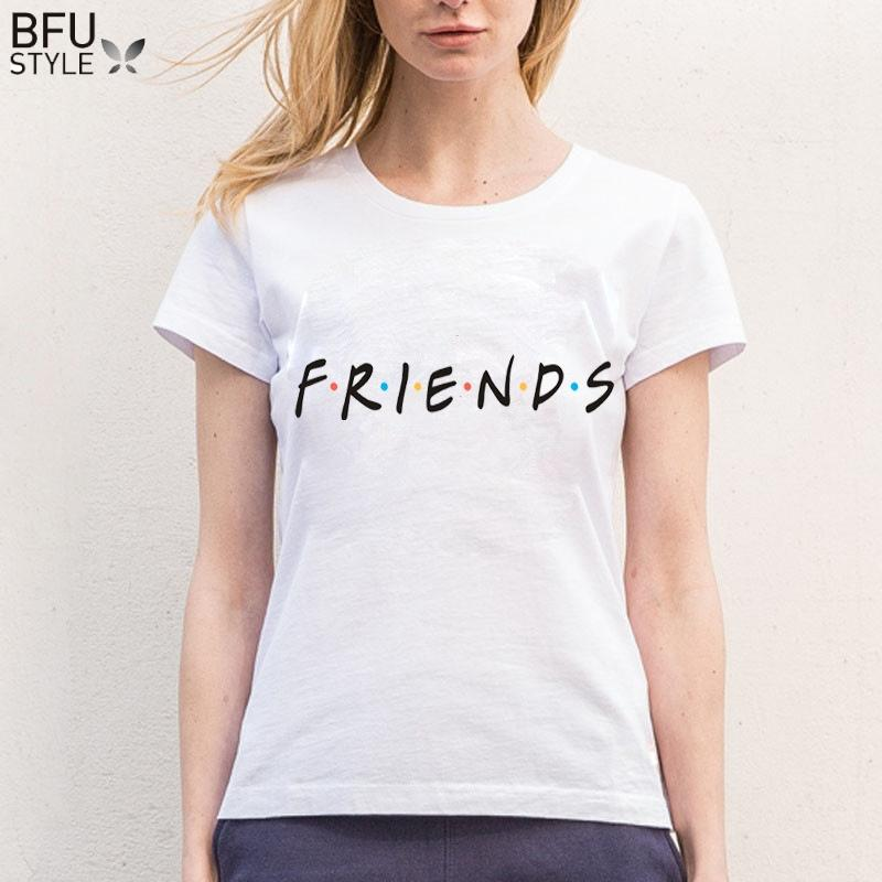 42fa7786125127 S 3XL Plus Size FRIENDS T Shirt Harajuku Letter Print Summer Tops Casual  Tees For Women Best Friends Gift Shirt Camisetas One Day Only T Shirts  Limited T ...