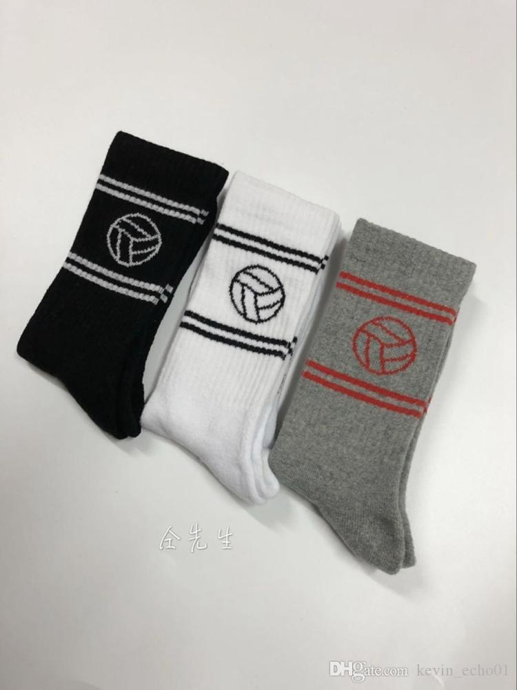 Gosha 17aw bordado de skate calcetines Harajuku algodón monopatín de hip hop high street deportes de moda calcetines de media caña