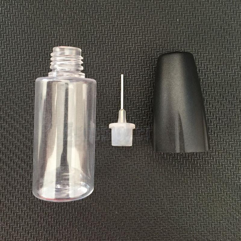 Screw Cap Needle Tip Bottle 10ml PET Dropper Clear Empty Bottle With Childproof Cap E Liquid Plastic Squeezable Needle Bottle 0C
