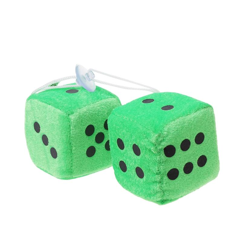 Fuzzy Dice Dots Rear View Mirror Hanger Decoration Car Styling