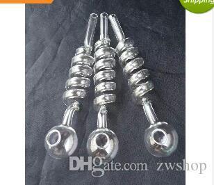 thickened 5 spiral glss pot --glass hookah smoking pipe Glass gongs - oil rigs glass bongs glass hookah smoking pipe - vap- vaporizer