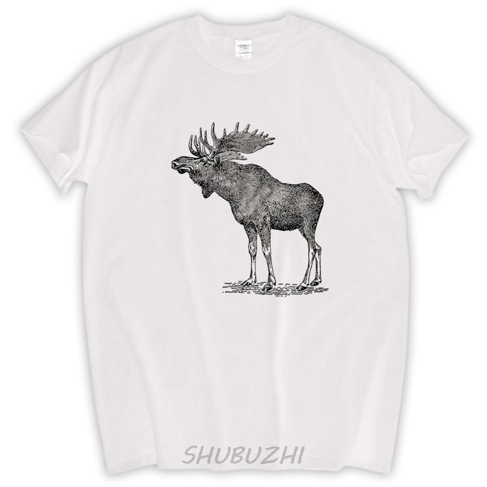 33eb61a1fc Mens T Shirt Pipe Smoking Moose Tee Shirt Shubuzhi TShirt Funny T Shirts  Graphical Hipster Tees Mens Moose Tops Cool T Shirt Buy Shirts Online From  Honey333 ...