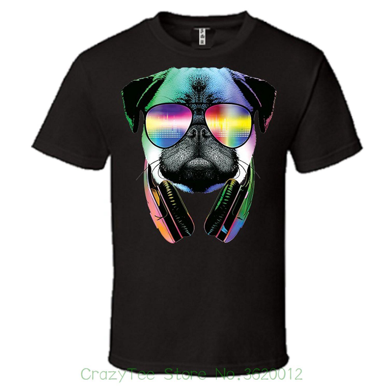 8c4c716710 Compre 2018 Últimos Hombres Camiseta Moda Dg Pug Con Gafas De Sol Y ...
