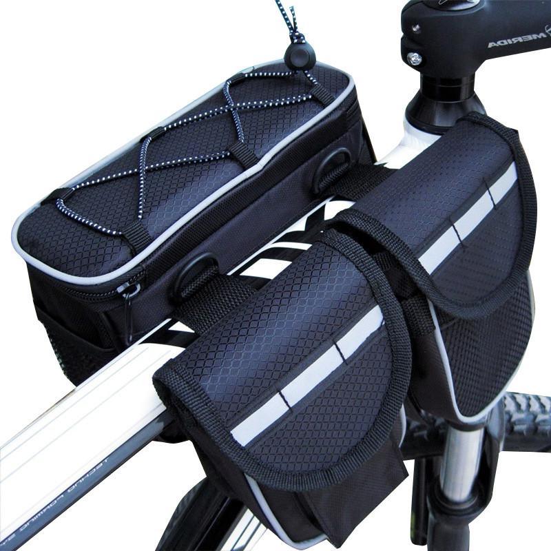 e71a9bc1e Compre Mountain Bike Bicicleta Saco De Tubo De Bicicleta Acessórios Da  Bicicleta 4 Em 1 Sacos De Ciclismo Bolsa Esporte Ciclismo Panniers Bags  Phone ...