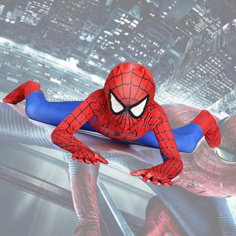 Compre Ainiel Amazing Homecoming Spiderman Cosplay Traje De Hombre Araña  Mono Para Niño Fiesta De Halloween Zentai Para Niños Y1891202 A  24.0 Del  ... 47789f12bf15c