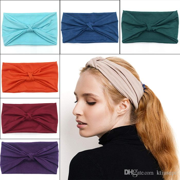 Women Vintage Yoga Headband Elastic Women Criss Cross Head Wrap Knotted  Hair Band Turban Thick Headbands Twisted Children Hair Bows Personalized  Hair Bows ... 41a95150765