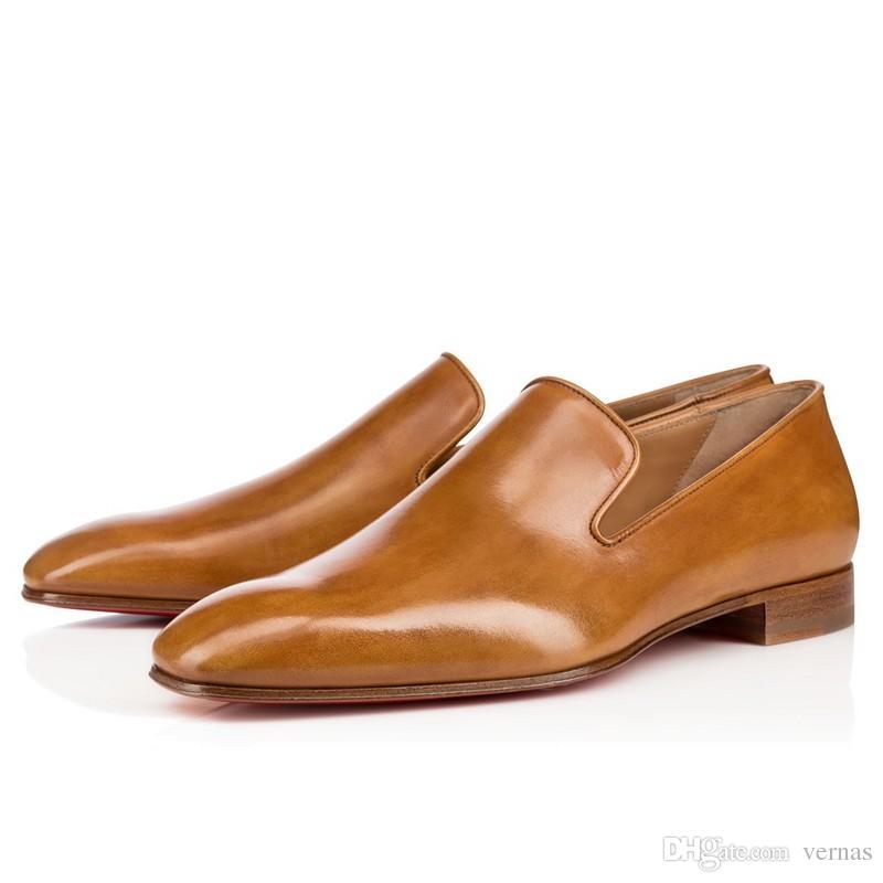 Джентльмен Партии Свадебные Кроссовки Обувь Для Красного Дна Женщины, Мужчины Мокасины Обувь Роскошный Дизайн Мокасины Квартиры Оригинальная Коробка