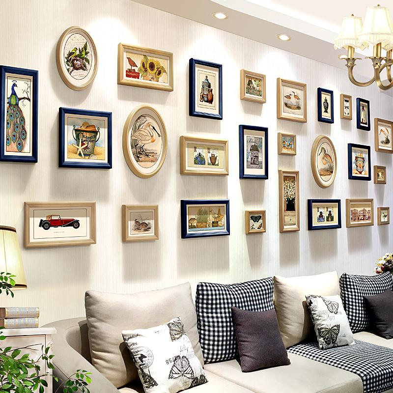 2018 Wood Frame Picture Frame Wall Photo Set Photo Wall Wooden ...