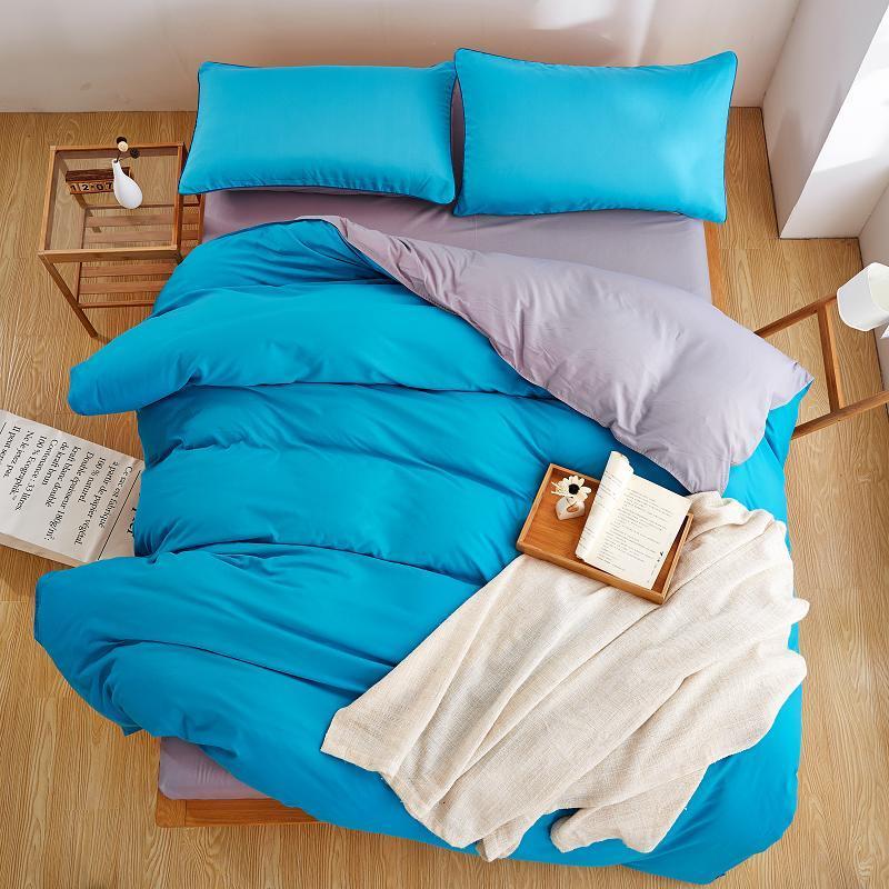 Acheter Ensemble De Literie 3 Gris Bleu Nouveau Style Ensemble De