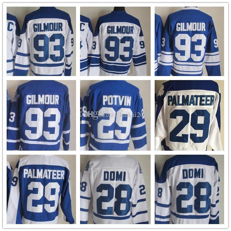 2018 Mens Toronto Jersey 28 Tie Domi 29 William Nylander 93 Doug ... a2260b00b