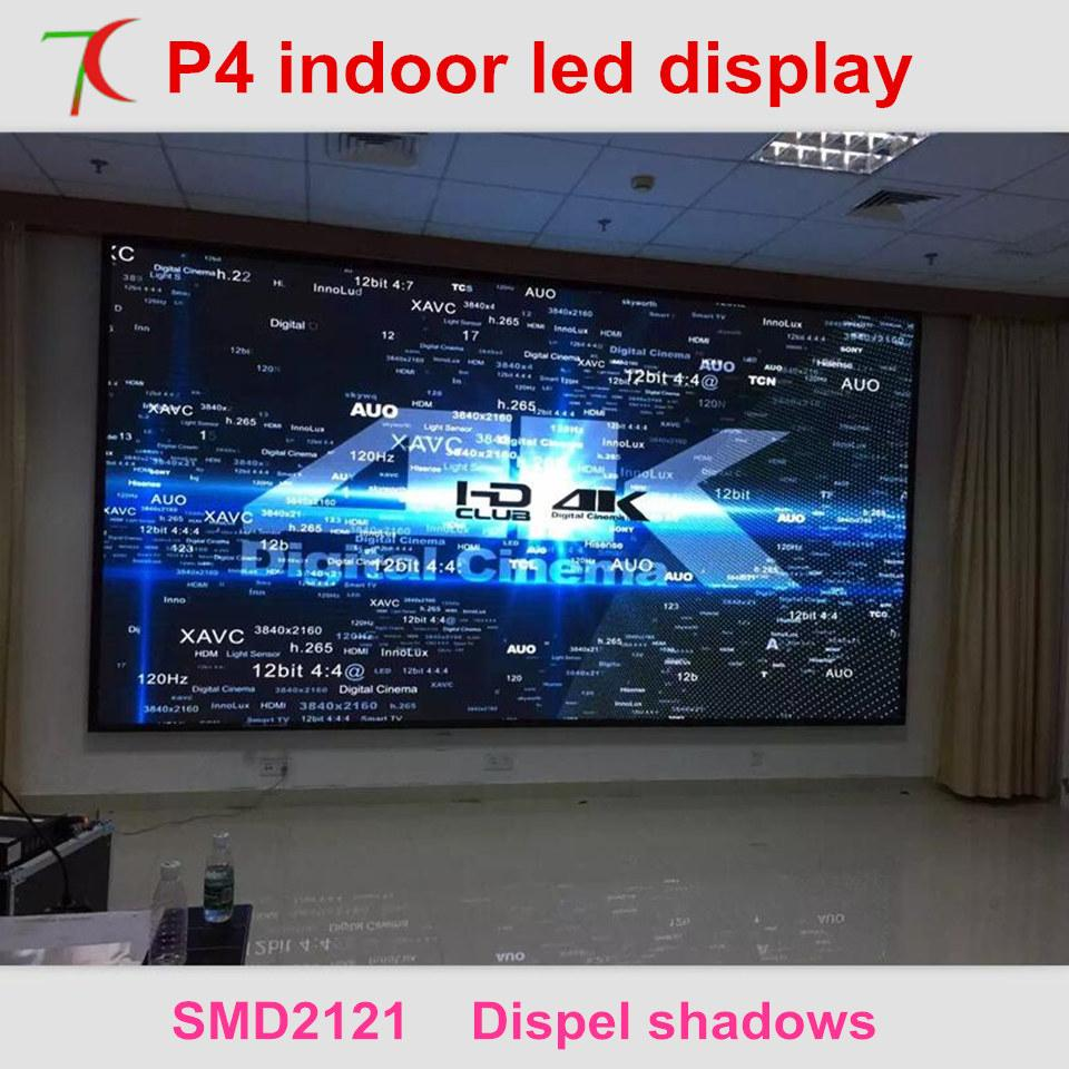 P4 indoor most cost-effective led screen video wall widely used in  conference, hotel, market ,station,meeting room
