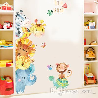 Lovely 78127cm HELLO FRIEND Wall Stickers Wallpaper Paper Peint 3d Home Decor Bathroom Kitchen Accessories Household Suppllies Roommates Self