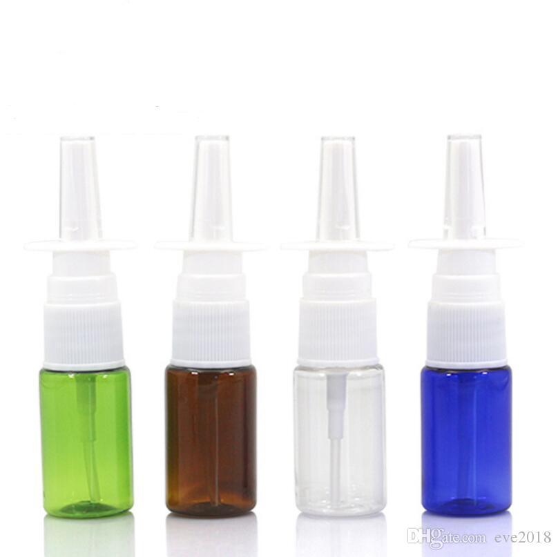 Пустая пластиковая бутылка для назальных спреев на 10 мл, носовые распылители на 10 мл, аппликаторы для орального спрей по 1/3 унции LX1192