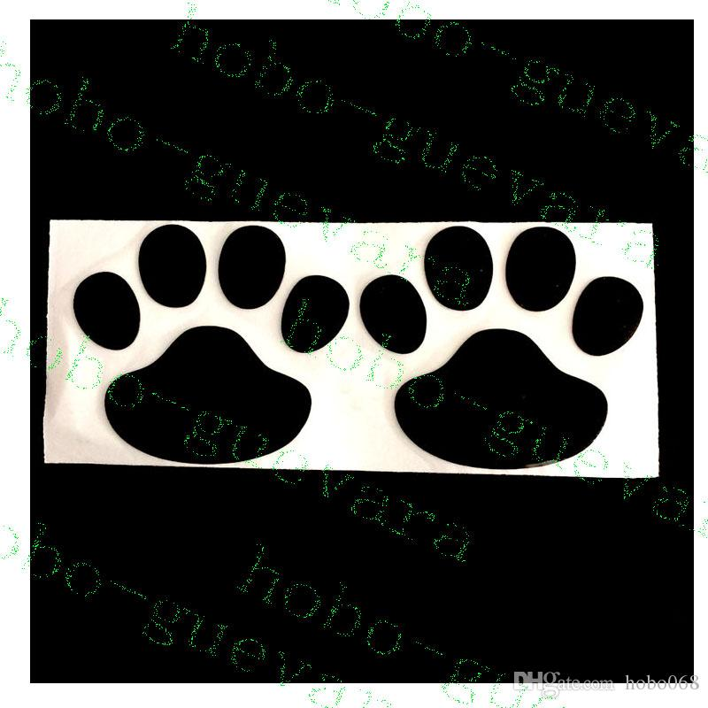 Car Vehicle Decoration Footprint 3D PVC Stickers Stero Personality Exterior Accessories AUTO BODY DECAL DIY