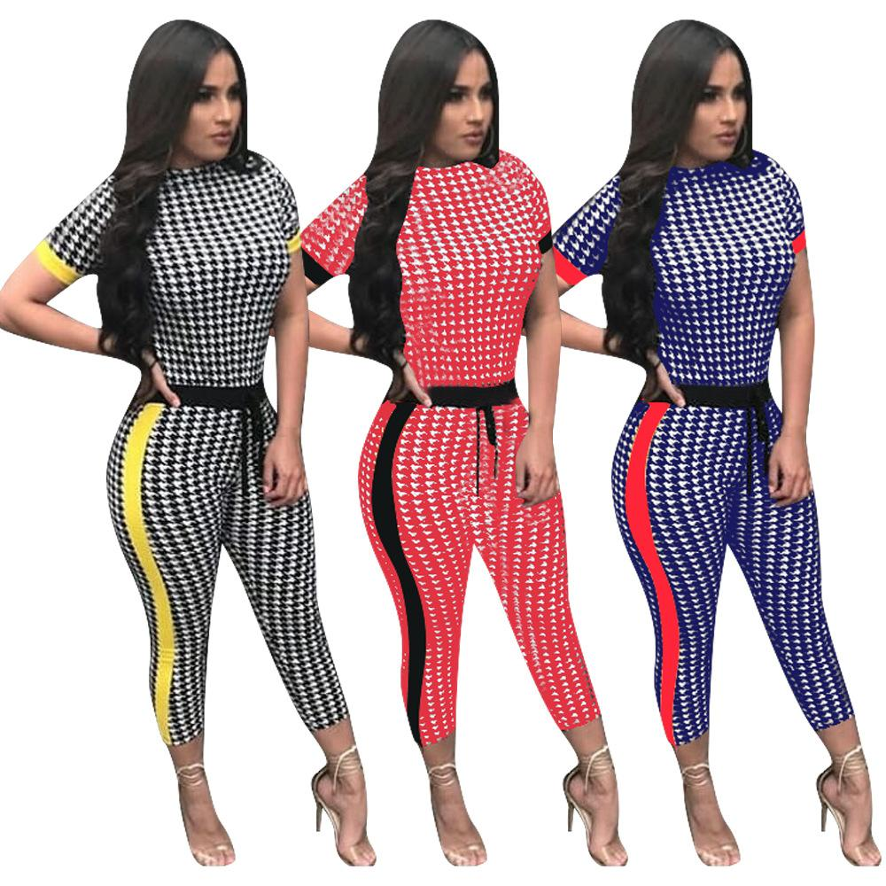 25f0d1cfb5f6 Fashion Sexy Jumpsuit Romper Short Sleeve Long Pants Jumper Striped ...