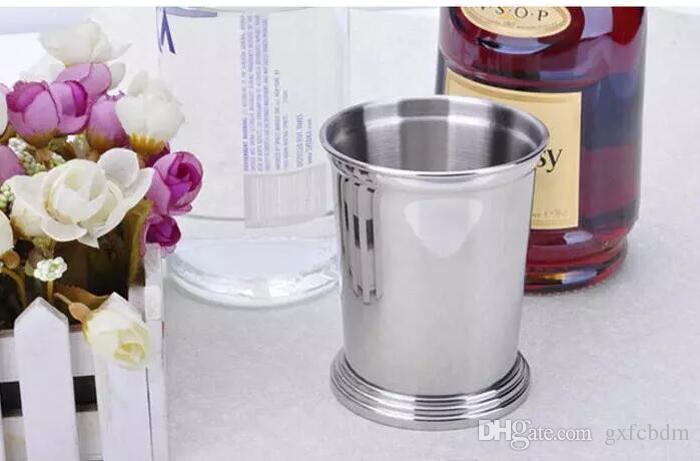 350 ml Licht Edelstahl Mojito Mint Julep Becher Drei Farben Sessile Gerade Tasse