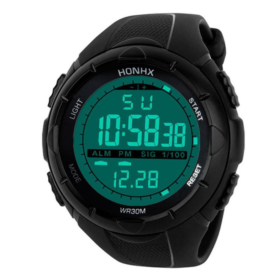 Compre Reloj Deportivo Impermeable Para Hombre Lcd Cronómetro Digital Fecha  De Silicona Reloj Deportivo De Verano Muñeca Luminosa Marca De Lujo A   19.73 Del ... 45dd3c14fc83