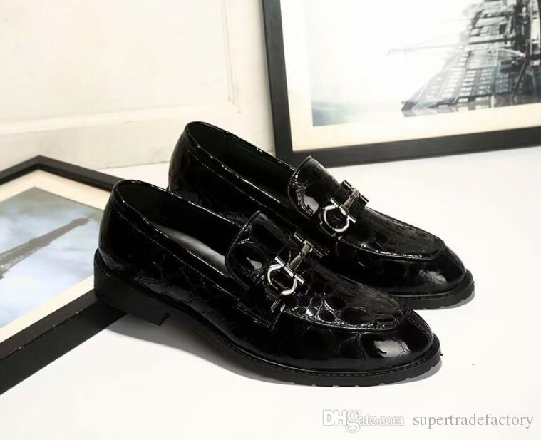 61a7d0ffc72b61 Acheter Italien Mens Chaussures Casual Boucle Marques Véritable En Cuir  Hommes Mocassins De Luxe Mocassins Confortable Respirant Slip Sur Robe  Chaussures ...