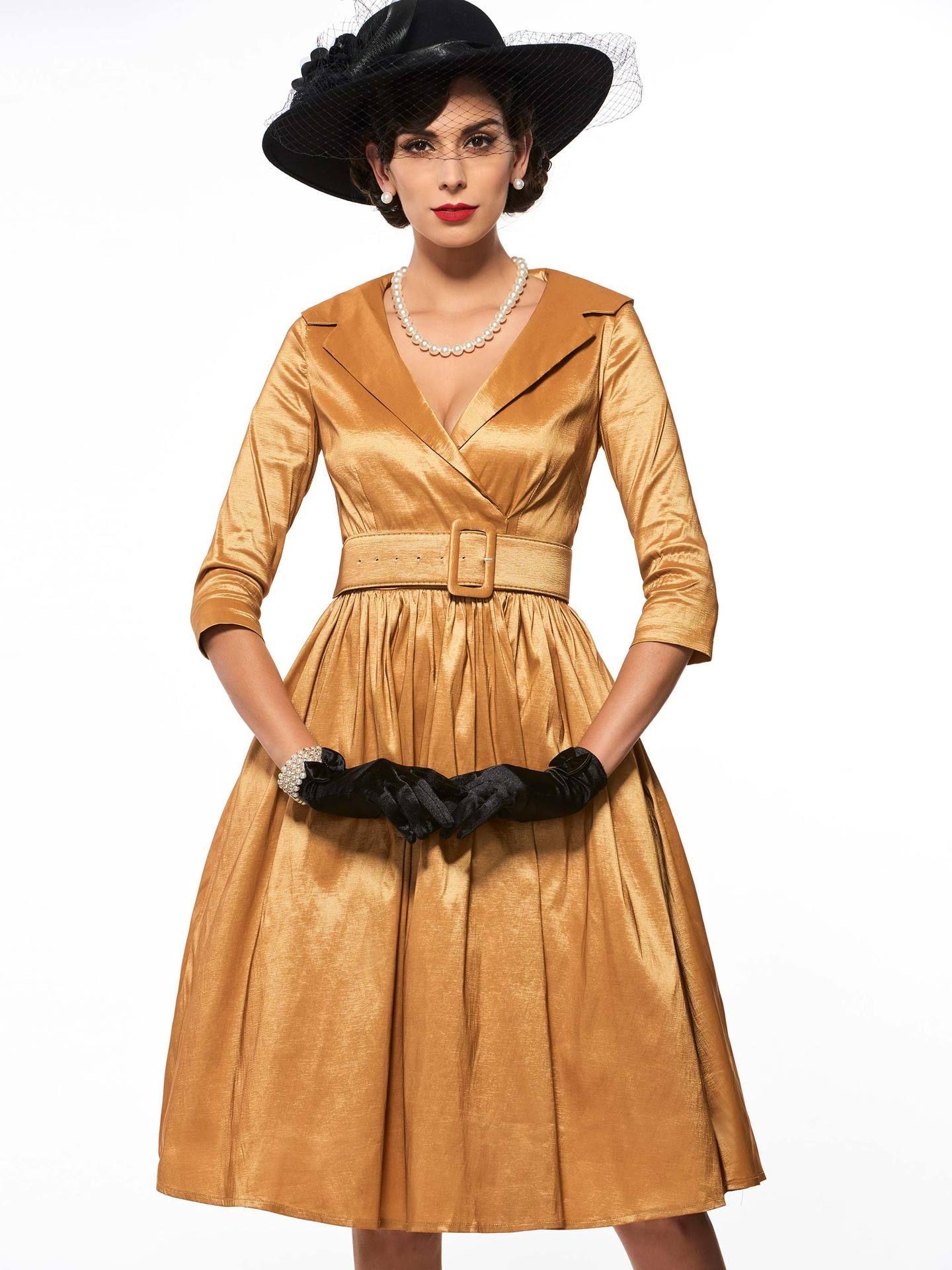 Großhandel Frauen Langarm Kleid A Linie Sommerkleid Vestidos V ...