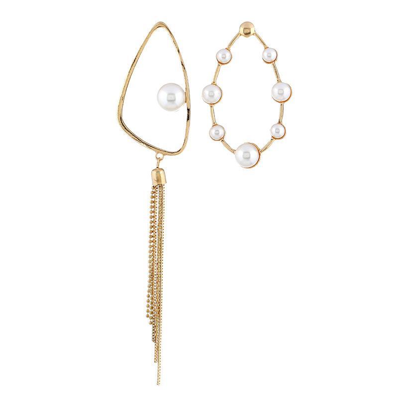 0b18d88a6 New Long Paragraph Simple Geometric Earrings Women s Alloy Imitation ...