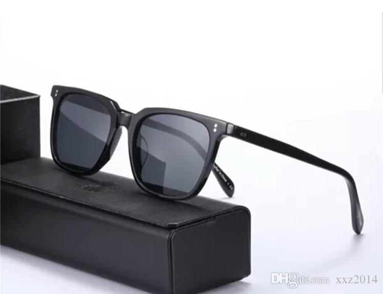패션 V5301S Eugene Tong 편광 된 선글라스 UV400 풀 림 스퀘어 고품질 경량 순수 판자 Occhiali Da Sole Full-Set 포장