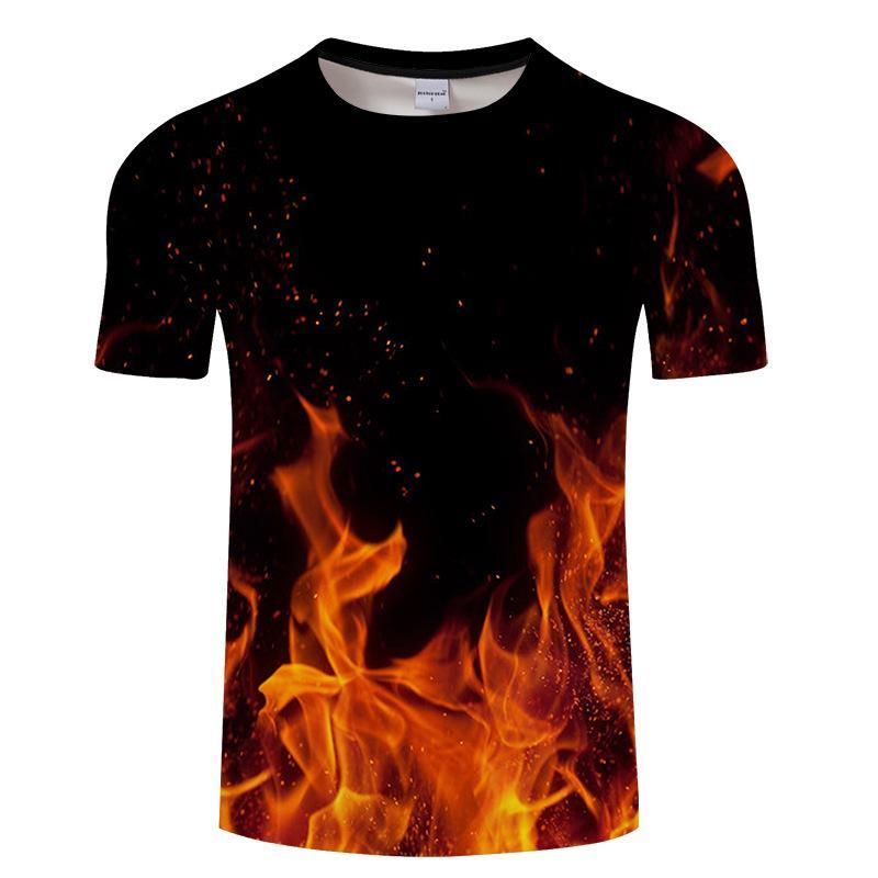 0d17a1fe322880 2018 Hot Style Short Sleeved Printed 3D Flame Lion Star T Shirt True  Detectives Buck Skull Printing Machine O Neck Short Sleeve T Shirts Fun  Shirt Designs ...