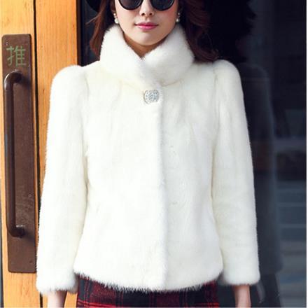 size 40 03b83 0df8e Clobee donne eco-pelliccia cappotti 2018 inverno donne eleganti faux visone  cappotto di pelliccia poncho outwear nero bianco caldo sexy giacca corta ...
