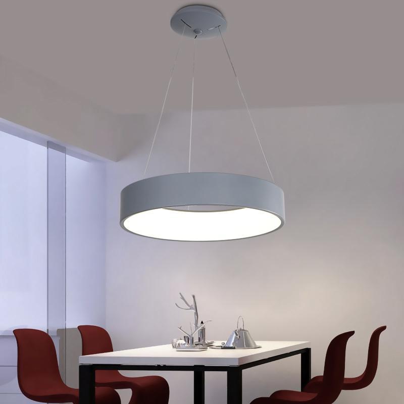 Gray/ White Modern led pendant Chandelier For Dining Room Bedroom Circular  Dia60/45cm LED Chandelier Lighting light fixtrus
